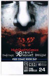 30 DAYS of NIGHT, CSI, Shield, Steve Niles, Vampire, 2004, FCBD, NM+