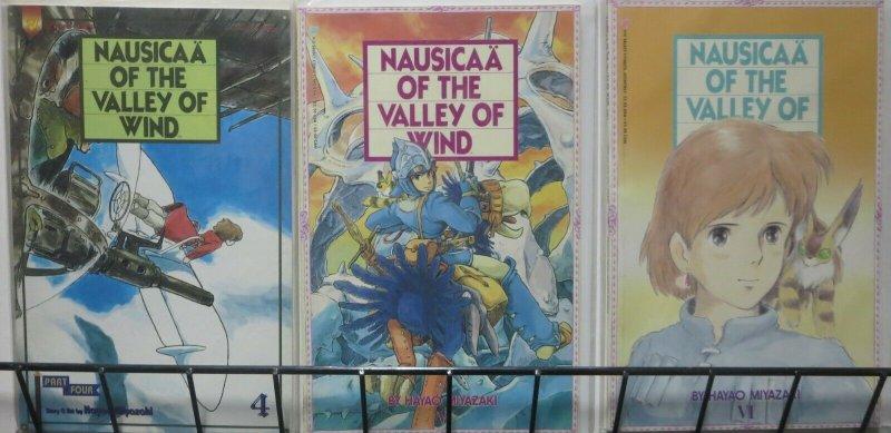 NAUSICAA VALLEY OF THE WIND- 3 ISSUES, FULL COMIC SIZE! Miyazaki, Gibli VF/+
