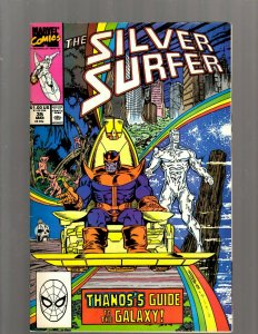 Silver Surfer # 35 VF Marvel Comic Book Thanos Infinity Gauntlet Avengers J450