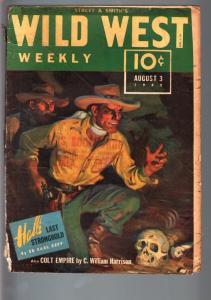 WILD WEST WEEKLY 8/3/1940-WESTERN PULP-GILA JACK G