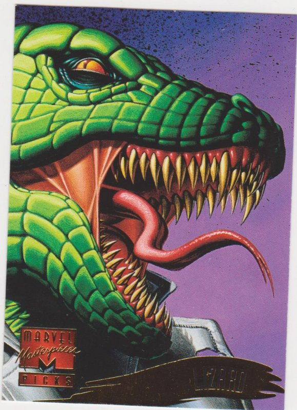 1995 Marvel Masterpieces #130 Lizard