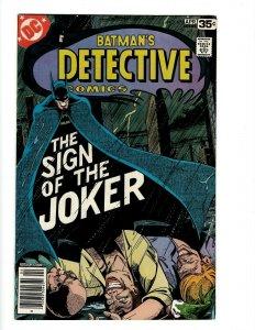 Detective Comics # 476 VF- DC Comic Book Batman Robin Joker Catwoman SR1
