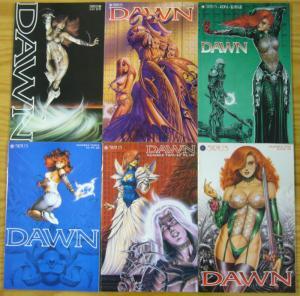 Dawn #1-6 VF/NM complete series - joe linsner - sirius comics 2 3 4 5 set lot