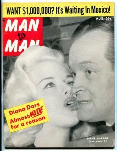 Man to Man Magazine August 1956- Diana Dors- Bob Hope- Nazi War Crimes FN