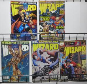 WIZARD Magazine #80,82,84,89,93(1998-1999) G/+Ross Supes/Spidey,Batman,Fantom