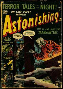 Astonishing #21 1953- Coffin cover- Atlas Horror golden age G-