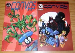 Canvas #1-2 VF/NM complete series - black velvet anthology set lot - indy comics