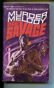 DOC SAVAGE-MURDER MELODY-#15-ROBESON-VG- JAMES BAMA COVER-1ST EDITION VG