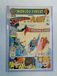 World's Finest #199 3rd Superman vs The Flash Race 4.0 VG (1970)