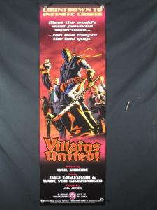 Villains United DC Comics Promo Poster 2005 34x11