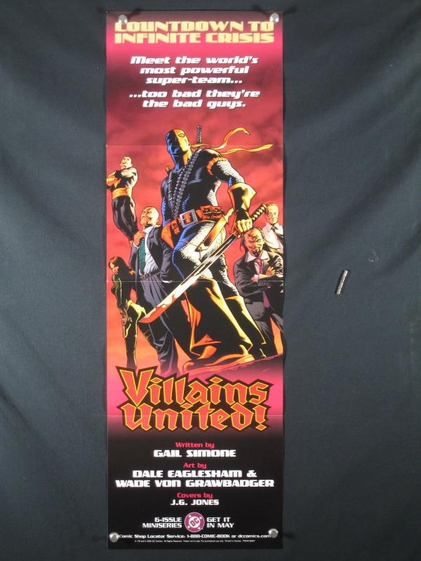 Villains United DC Comics Promo Poster 2005 34x11