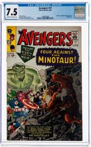 Avengers #17 (Marvel, 1965) CGC 7.5