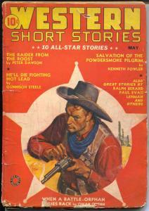 Western Short Stories5/1941-Red Circle-Peter Dawson-Gunnison Steele-VG