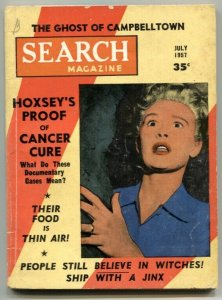 Search Magazine July 1957- Pharoah's Curse- Cancer Cure