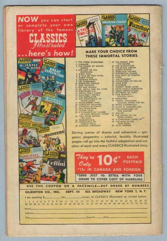 Classics Illustrated 57 (original) Mar 1949 VG-FI (5.0)