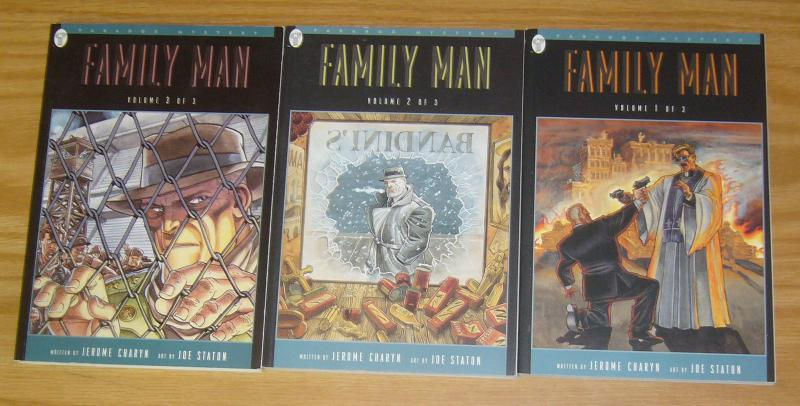 Family Man #1-3 VF/NM complete series - jerome charyn - joe staton - mystery set