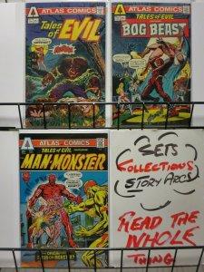 TALES OF EVIL (1975 SB) 1-3  Bronze age  COMPLETE VG-F+ COMICS BOOK