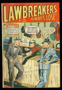 LAWBREAKERS ALWAYS LOSE #6 1949-MARVEL CRIME DR WERTHAM FN