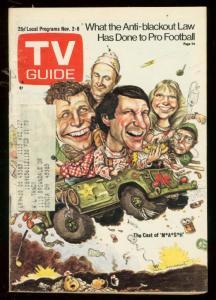 TV Guide November 2 1974- Central Ohio Edition- Cast of MASH cover