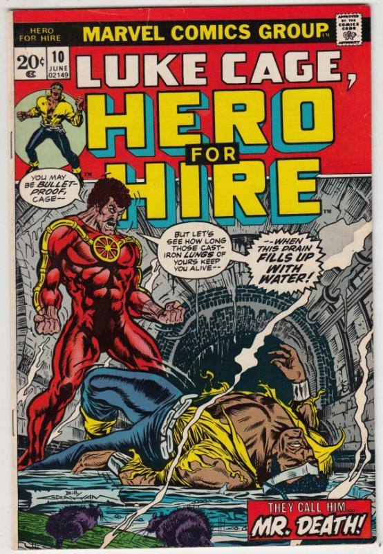 Luke Cage Hero for Hire #10 (Jun-73) VF/NM+ High-Grade Luke Cage