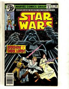 Star Wars # 21 VF Marvel Comic Book SIGNED By Archie Goodwin W/Sketch J371