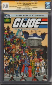 G.I. Joe #212 Emerald City Variant CGC 9.8 ~ Signature Cobra Commander Sketch