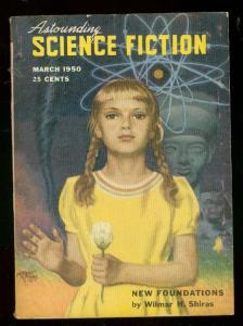 ASTOUNDING SCIENCE-FICTION MAR 1950-L RON HUBBARD-fine FN