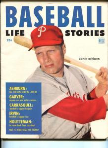 BASEBALL LIFE STORIES #1 1952-1ST ISSUE-RICHIE ASHBURN-MANTLE-SOUTHERN STATES-fn