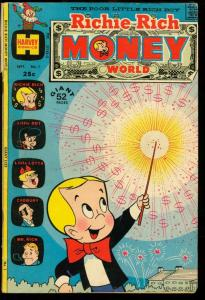 RICHIE RICH MONEY WORLD #1-HARVEY-FIRST ISSUE G/VG