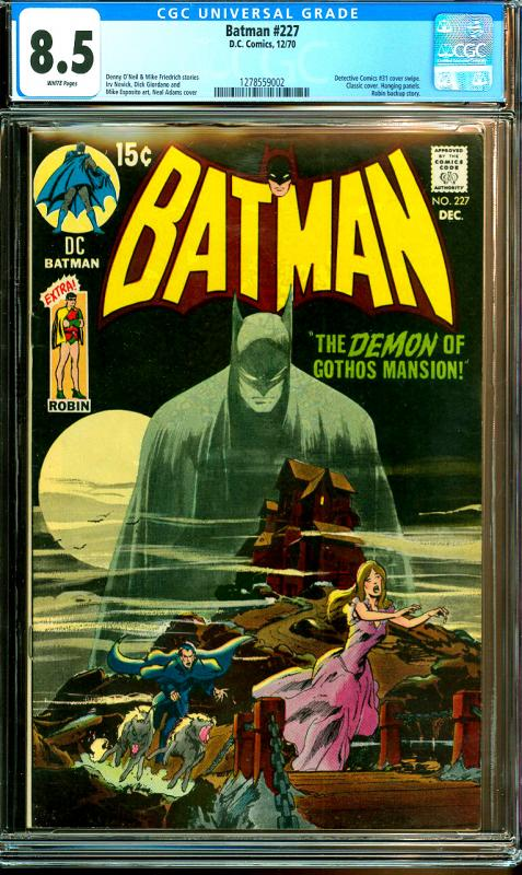 Batman #227 CGC Graded 8.5 with Robin Backup Story