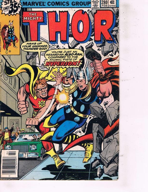 6 mighty thor marvel comic books 277 280 281 282 283 284