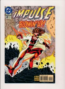DC Comics IMPULSE #2 Blowin' Up! ~ NM 1996 (PF01)