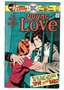 Young Love #119 comic book 1975- DC Romance Bronze Age- Prison cover
