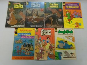 Bronze age Disney movie comic lot 13 different issues 4.0 VG or better (Whitman)