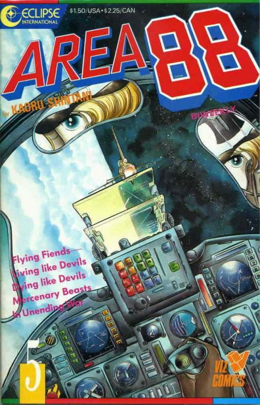 Area 88 #5 VF/NM; Eclipse   save on shipping - details inside