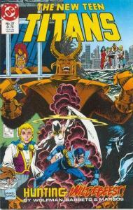 New Teen Titans (1984 series) #37, NM (Stock photo)