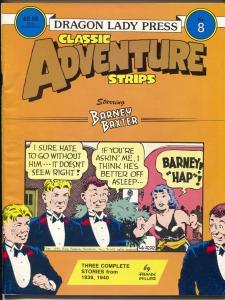 Classic Adventure Strips #8 1986-Barney Baxter 1939-1940 comic strips-FN