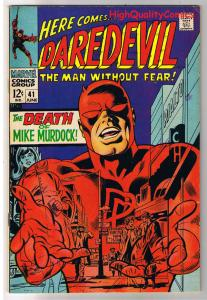 DAREDEVIL #41, FN+, Gene Colan, Death of, Stan Lee,1964, more DD in store