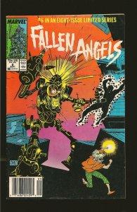 Marvel Comics Fallen Angels #6 September (1987)