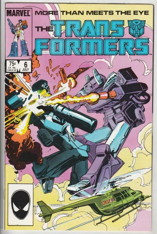 Transformers, The #6 (Jul-85) NM- High-Grade Transformers (Optimus Prime)