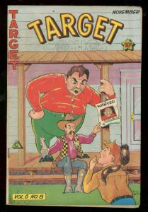 TARGET COMICS v.6 #8 1945-THE CADET-WALTER JOHNSON-FAGO FN/VF