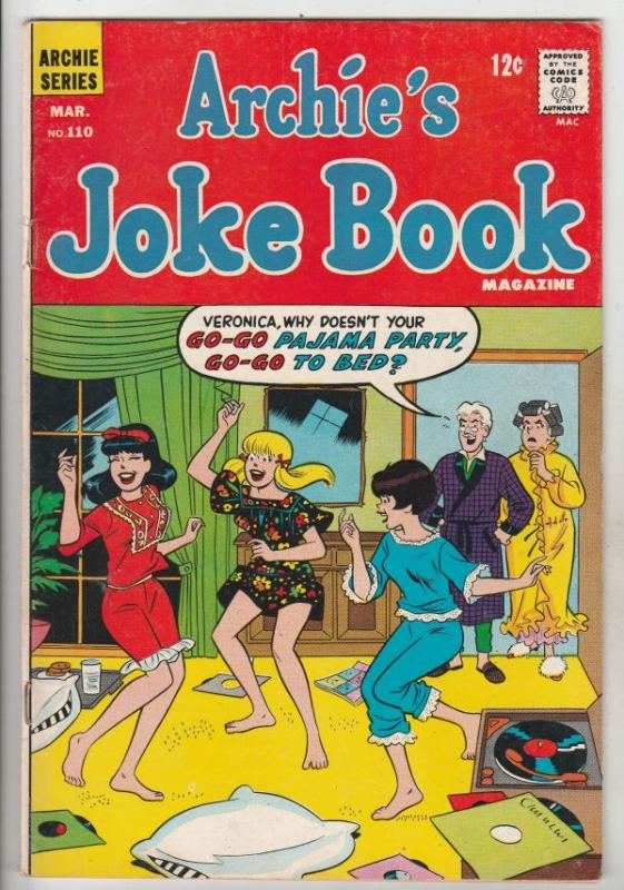 Archie's Joke Book #110 (Mar-67) FN/VF Mid-High-Grade Archie, Betty, Veronica...