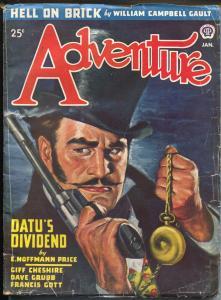 Adventure 1/1947-Popular-Rafael DeSoto cover-pulp fiction-Indy 500-Gault-VG