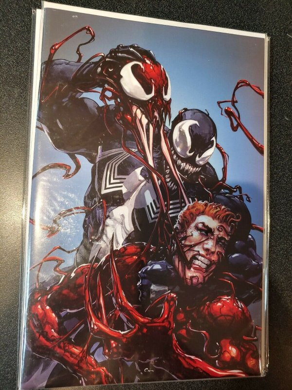 Web of Venom Unleashed 1 Clayton Crain Virgin Variant Marvel Comic