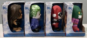 """Lot of 4 Ooshies Series 4 DC 4"""" Vinyl Edition"""