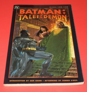 Batman Tales of the Demon SC Graphic Novel TPB VF+ 1st Print 1991 DC Comics