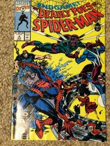 Spider-Man Deadly Foes #4 End Game! VF/NM Marvel 1991