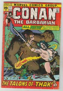 Conan the Barbarian #11 (Nov-71) VG/FN Mid-Grade Conan the Barbarian