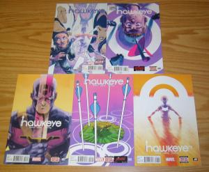 All-New Hawkeye #1-5 VF/NM complete series - marvel comics - jeff lemire set lot