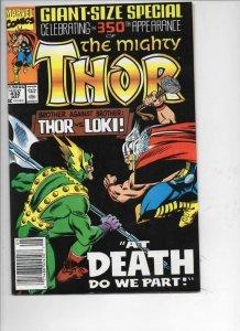 THOR #432, NM-, God of Thunder, Loki, 1966 1991, more Thor in store, Marvel, UPC